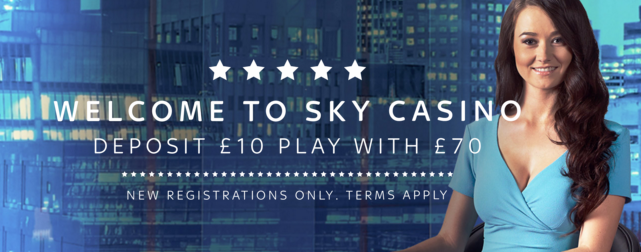 sky casino welcome bonus