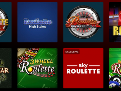 Games available in Sky Vegas: roulette, slots, cards and more