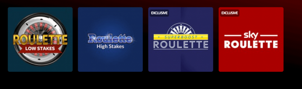 Sky Vegas Roulette and Slots